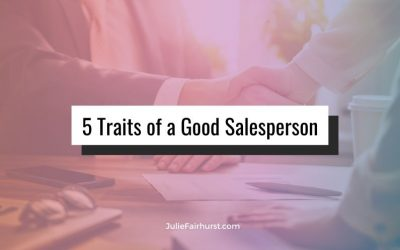 5 Traits of a Good Salesperson